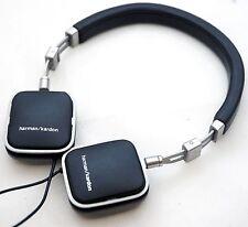 NEW Harman Kardon Soho-A Black Android On-Ear Headphones Leather Stainless Steel