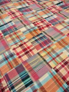 Madras Plaid Duvet Cover Queen / Full Patchwork Multicolor