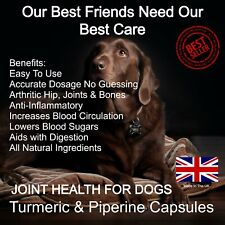 More details for turmeric capsules joint health for dogs 120 capsules, curcumin dog supplement :)