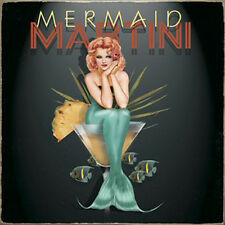 "Ralph Burch ""Mermaid Martini"" Redhead Pin-up Girl 9"" Vintaged Metal Sign"