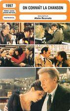 FICHE CINEMA FRANCE-Suisse-GB ON CONNAIT LA CHANSON  Réalisateur Alain Resnais