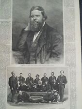 Polaris Polar Arctic Expedition Captain Hall Rescued Group Harper's Weekly 1873