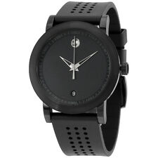Movado Men's Swiss Museum Sport Black Rubber Strap Watch 42mm 0607038