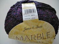 James C Brett Marble chunky Knitting Wool / Yarn 1 X 200g ball MC 15