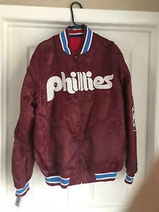 Never Worn Mens PHILADELPHIA PHILLIES Reversible 1980 World Series Jacket Coat L