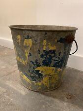 antique metal buckets