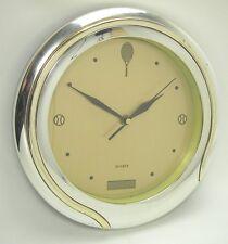 Wanduhr Tennis Kunststoff silber gold Quarz Laufwerk Schläger Netz Ball Uhr Deko