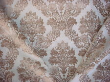 3-5/8Y Pindler Amb017 Ambridge Mineral Floral Damask Chenille Upholstery Fabric