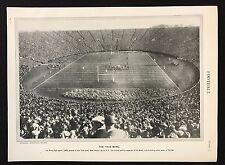 VINTAGE Stampa/Piastra 1929 Enciclopedia Britannica, calcio, la ciotola YALE