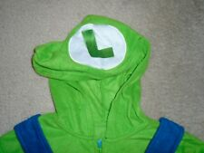 MENS LARGE - SUPER MARIO BROTHERS - LUIGI- BLUE & GREEN ONE PIECE PAJAMAS - NWT