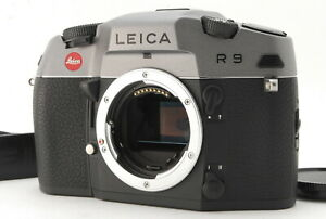 *TOP MINT* LEICA R9 ANTHRACITE 10090 35mm SLR Film Camera w/ Strap From JAPAN