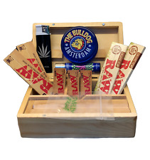 RAW ROLLING BOX SET COMPLETE WITH WOODEN BOX AND ACCESSORIES/AMSTERDAM BULLDOG