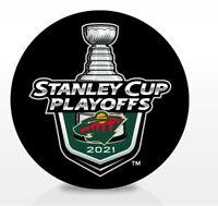 MINNESOTA WILD 2021 NHL PLAYOFFS HOCKEY PUCK STANLEY CUP FINAL 1ST 2ND ROUNDS