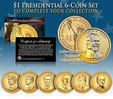 LIVING PRESIDENTS TRUMP & BIDEN Presidential Dollars 6-COIN SET Color GOLDEN-HUE