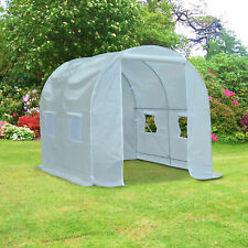 NEW Garden Green House Walk-in Greenhouse White Outdoor Strong Waterproof Polly