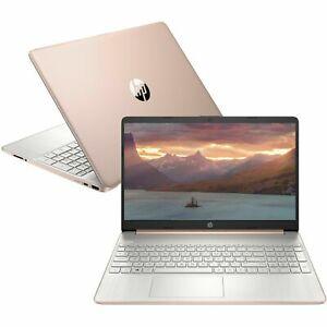 "Rose Gold HP Laptop 15.6"" HD AMD Quad Core Ryzen 5 256GB SSD 8GB RAM Pink New"