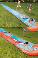 16' INFLATABLE RACEWAY GARDEN WATER SLIDE OUTDOOR RALLY PRO ACTIVITY FUN GAME
