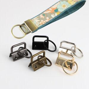 1Pcs Key Fob Hardware Wristlets Split Ring Keychain Metal Cotton Tail Clip 26mm