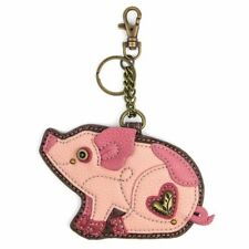 New Chala Purse Bag Charm Clip On Key Ring Fob PINK PIG Coin Purse gift