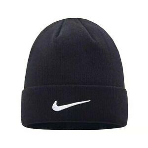 Nike Beanie Cap Hat Black White One Size Women Men Brand sale