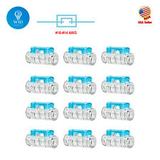 12pcs Straight Joint Stripping-Free Quick Splice Wire Connectors 16-14 Terminals