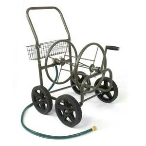 Liberty Garden Products 4 Wheel Residential Hose Reel Cart Holds Up to 250 Feet