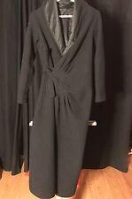 Rick Owens Black Long Coat Sz IT 40