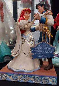 DISNEY TRADITIONS/SHOWCASE  WEDDING(ARIEL & ERIC) WEDDED BLISS- RARE-BOX INC