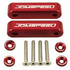 JDM Hood Spacer Risers Set Red For 88-00 90-01 Acura Honda Integra CRX Civic