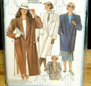 Burda 6466 Womens Trench Coat Jacket 8 10 12 14 16 18 20 40 New Sewing Pattern