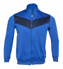 Mens Trouser Jacket Tricot Tracksuit Running Jogging Exercise Casual Sports Wear Large Royal Blue