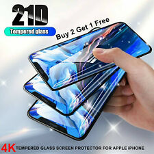 100% GENUINE TEMPERED GLASS FILM SCREEN PROTECTOR FOR  APPLE IPHONE - NEW, UK*