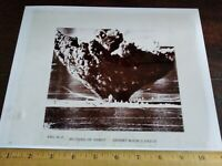 """Vintage 8x10 Photo Transparency """"Picture of Burst"""" Unidentified Blast 1950's"""