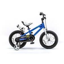 Blue Steel Frame Freestyle BMX Kid's Trekking Bike with 12-in Training Wheels
