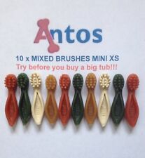 Antos Cerea XS Mini Tooth Brushes x 10 'TRY BEFORE YOU BUY A BIG TUB'  Dog Chews