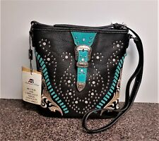 Montana West Concealed Carry Crossbody Bag Western Cowgirl Buckle Purse