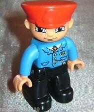 Lego Duplo Figur Schaffner m. Kappe Man für Eisenbahn aus 5609 Zugführer 5636