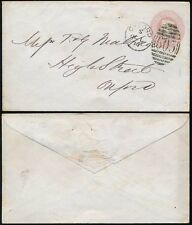 Gb Qv Stationery 1877 Oxford Duplex.Embossed Flap Franklin + Gale Wallingford