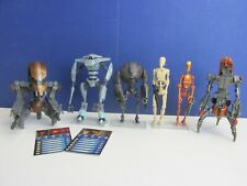 star wars SUPER BATTLE DROID DROIDEKA ACTION FIGURE LOT clone wars CW #486