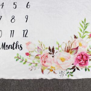 Newborn Baby Infant Milestone Blanket Mat Photography Photo Prop Monthly GL AU