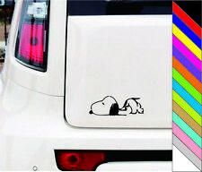 Snoopy Sleeping Car Window Vinyl Decal Sticker Laptop Bumper Decor Waterproof
