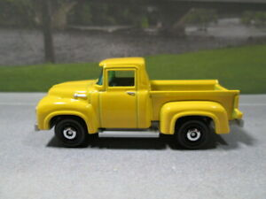 1956  FORD PICKUP   yellow  LOOSE S SCALE