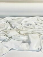 """White Cotton Flannel Interlining Fabric Double Napped 54"""" W Drapery Mask Liner"""