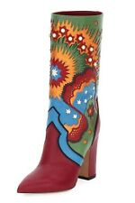 New Multicolor Enchanted Wonderland Boots/Booties size 6.5
