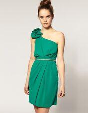 £75 NEW WAREHOUSE SPOTLIGHT GREEN ORIGAMI ONE SHOULDER PARTY MINI DRESS 8 4 36