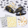 3D Nail Stickers Gold Maple Leaf Silver Black Transfer Decals Nail Art Decor DIY