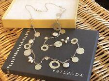"Silpada Necklace N2197 PEARL OF A GIRL .925 Sterling Silver & Pearl 36"" LNIB!"