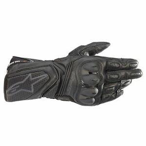 Alpinestars Women's SP8 V3 Leather Motorcycle Gloves - Black/Black