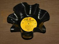 """VINTAGE KITCHEN  9"""" ACROSS DISH BOWL MADE FROM OLD REPRISE  MUSIC RECORD"""