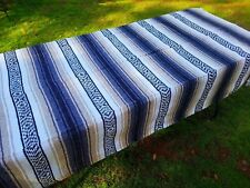 Mexican Blanket Falsa Tan, Grey and White, Southwestern Beach Yoga Blanket